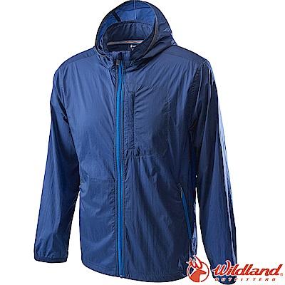 Wildland 荒野 0A62910-72深藍色 男15D防潑水高透氣外套