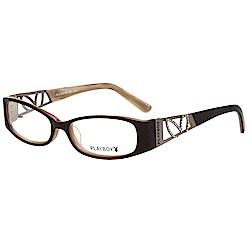 PLAYBOY-時尚光學眼鏡-咖啡色-PB85153