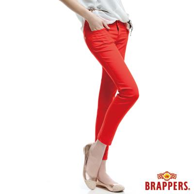 BRAPPERS 女款 新美腳Royal Cargo系列-女用彈性九分褲-橘紅