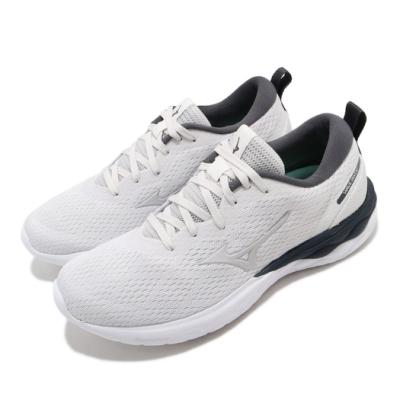 Mizuno 慢跑鞋 Wave Revolt 運動 女鞋 美津濃 路跑 避震 透氣 健身 球鞋 灰 白 J1GD208146