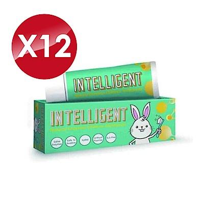 (12入組)Intelligent 因特力淨 兒童酵素牙膏 (原味) 40gX12