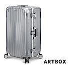 【ARTBOX】愛戀迷情 29吋 創新線條胖胖運動款鋁框行李箱(銀色)