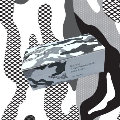 BioMask保盾 印花三層成人防護口罩-成人用 (30片/盒)