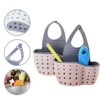 【3入】水槽瀝水架廚房水龍頭收納架掛式雜物置物籃