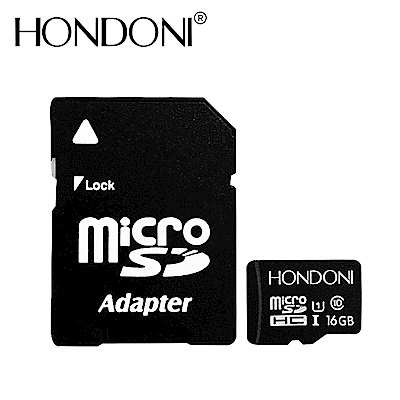 HONDONI Micro SDHC C10 U1 16GB 記憶卡(附轉卡+儲存盒)