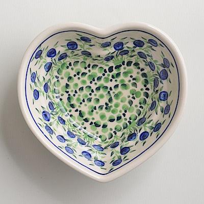 波蘭陶手工製粉紫浪漫愛心造型烤盤