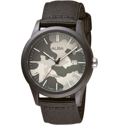 ALBA雅柏街頭迷彩運動時尚錶(VJ42-X291H AS9K33X1)