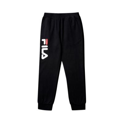 FILA KIDS #WONNIE系列大童針織長褲-黑色1PNT-8454-BK