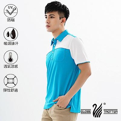 【遊遍天下】MIT男款吸濕排汗抗UV速乾機能POLO衫GS10022淺藍