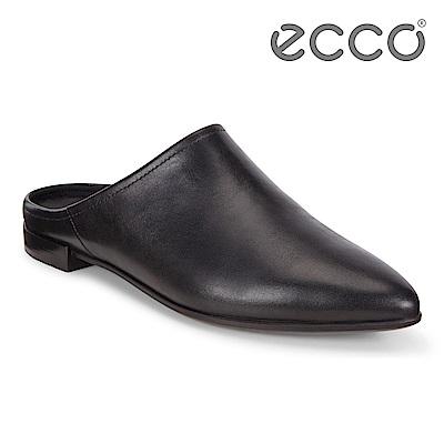 ECCO SHAPE POINTY BALLERINA 時尚尖頭平底穆勒鞋 女-黑