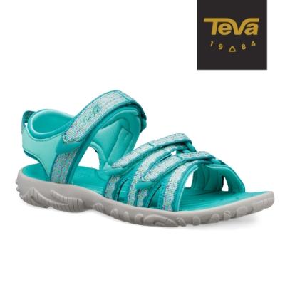 TEVA 原廠貨 中童 Tirra 水陸兩棲 多功能運動涼鞋-水藍綠