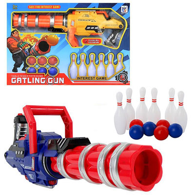 《Gatling-Gun》 機槍造型射擊乒乓保齡球遊戲玩具槍