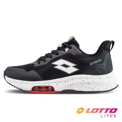 LOTTO 義大利 男 SP600 前掌氣墊跑鞋(黑/白)