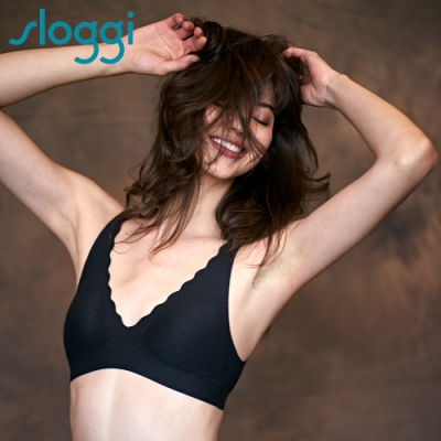 sloggi ZERO Feel Lace 歐版零感V領蕾絲背心式內衣 純粹黑 88-296 04