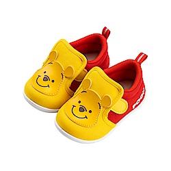 迪士尼童鞋 小熊維尼 魔鬼氈學步鞋-紅