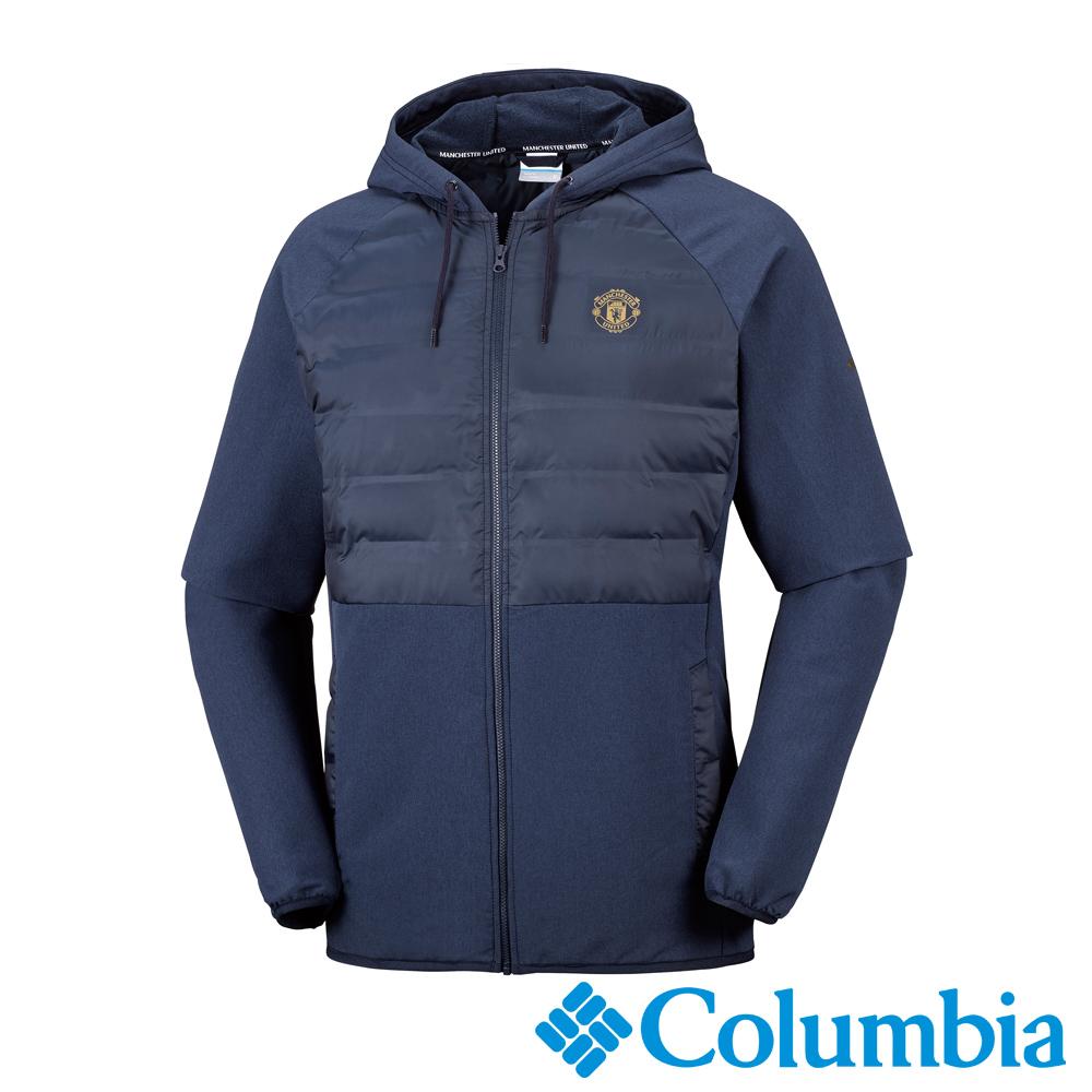Columbia哥倫比亞 男款-曼聯 連帽外套-藍色