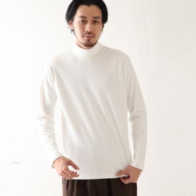 高領長袖T恤長TEE基本素色(3色) -ZIP日本男裝