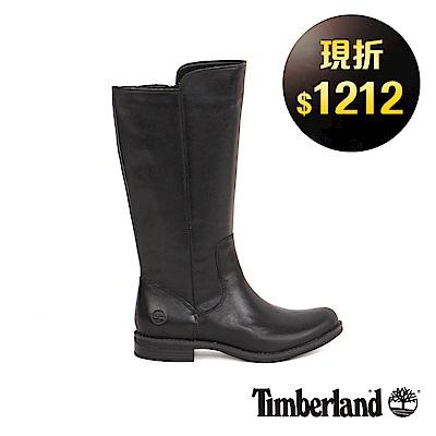 Timberland 女款黑色皮革Magby高筒靴 | A1KGY001