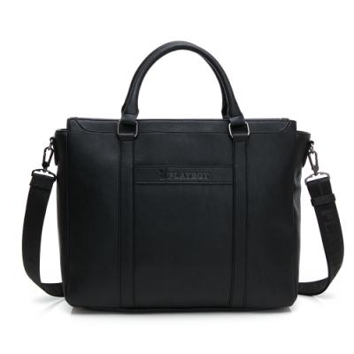 PLAYBOY- 公事包附長背帶 minimalism -黑色