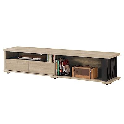 文創集 馬亞米時尚6.1尺木紋電視櫃/視聽櫃(二色可選)-182x40x40cm免組