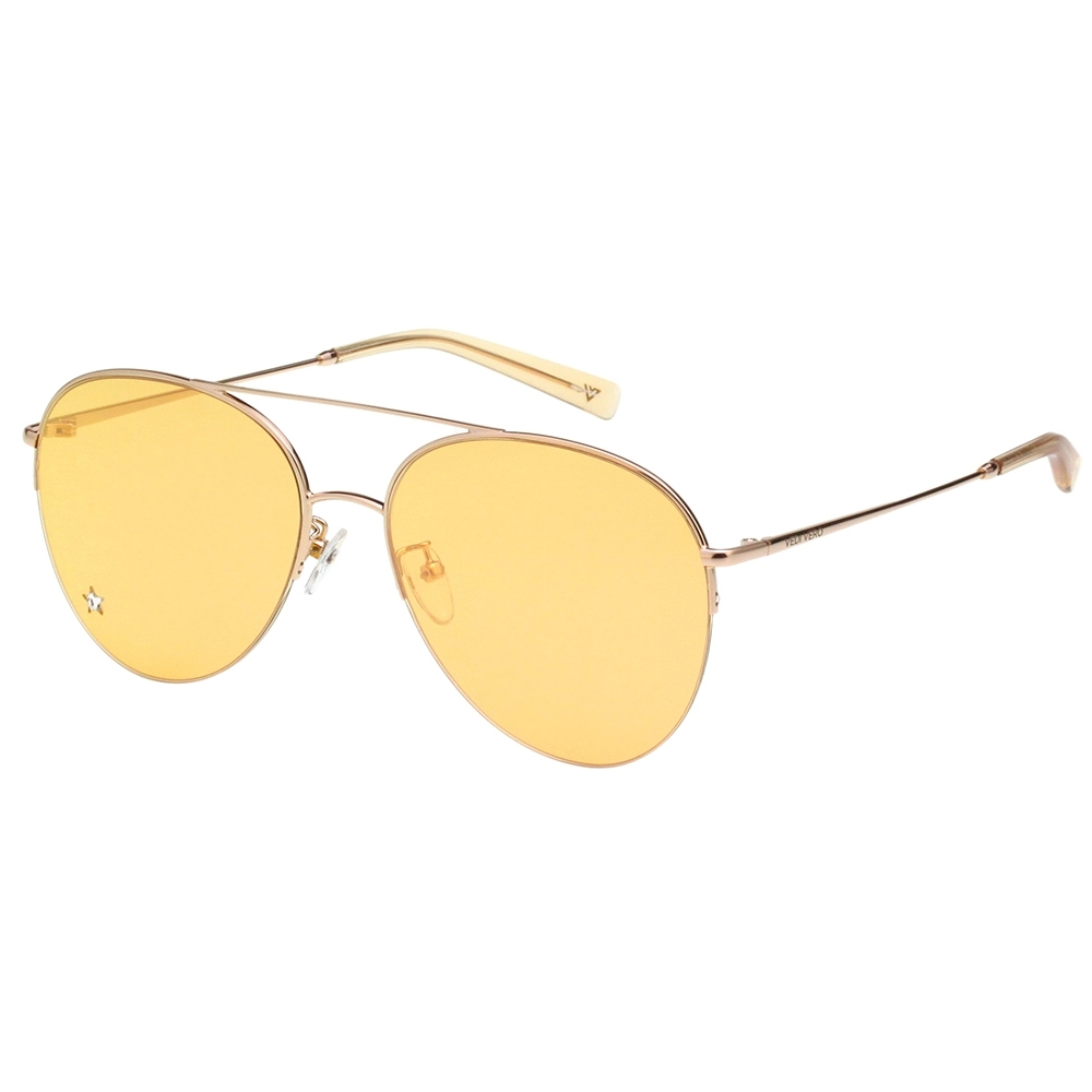 VEDI VERO  飛官款 水銀面 太陽眼鏡 (黃色)