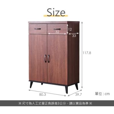 時尚屋  布倫特2.7尺鞋櫃  寬80.3x深39.7x高117.8cm