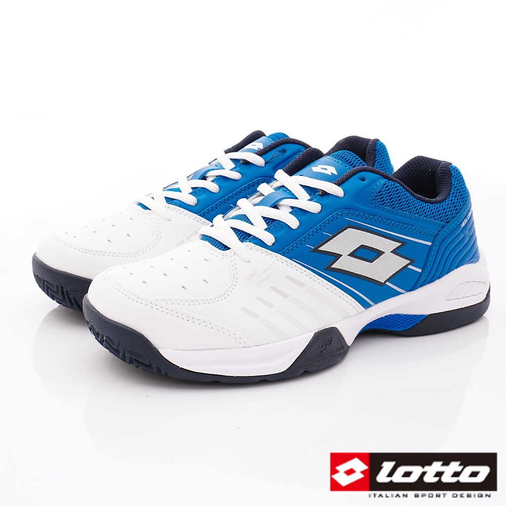 Lotto樂得-全地形網球鞋 SI806白藍(男段)