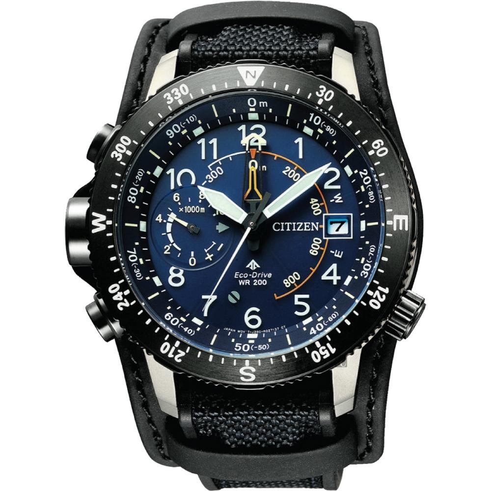 CITIZEN 星辰 PROMASTER 30週年鈦光動能戶外運動手錶BN4055-19L