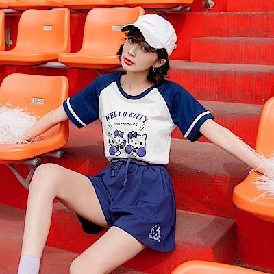 美國棉運動KITTY台灣製造型短袖上衣-OB大尺碼