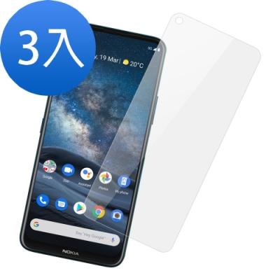超值3入組- Nokia 8.3 5G 高清透明 9H鋼化玻璃膜 手機 保護貼-Nokia 8.3-透明*3