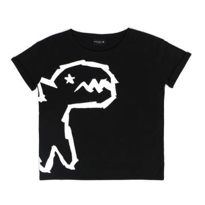Sport b. 經典恐龍圖案印花圓領短袖上衣 (女) (黑)
