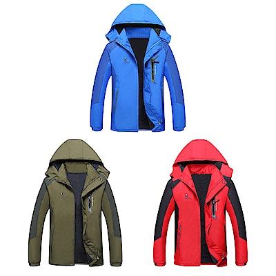【Effect】情侶款急速聚熱加絨防風防水保暖外套(男款/3色可選)