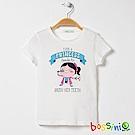 bossini女童-印花短袖T恤05灰白