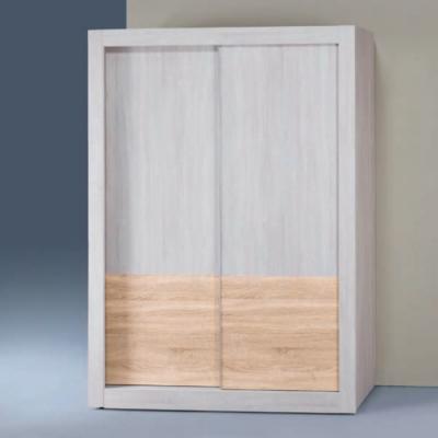 Bernice-冰島雙色白天鵝漂流木4×7尺推門衣櫥-120x58.8x202.5cm