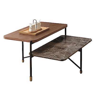 文創集 羅格慕時尚2.5尺石面茶几-75x70x38cm免組