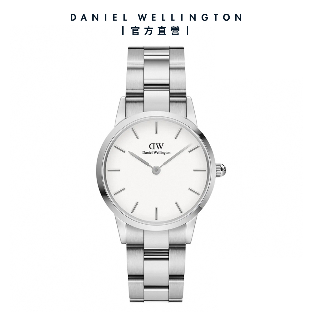 【Daniel Wellington】Iconic Link 28mm精鋼錶-耀目亮銀 DW手錶
