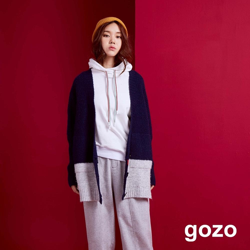 gozo 雙色粗針針織外套(二色)
