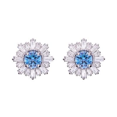 SWAROVSKI施華洛世奇 SUNSHINE 藍色水晶耳環