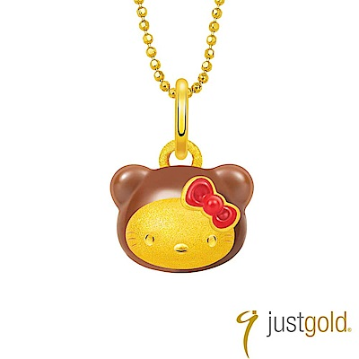 鎮金店Just Gold Kitty Bear 黃金吊墜