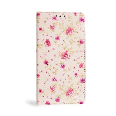 apbs iPhone XS / iPhone X 5.8吋施華水晶鑽皮套-月季花