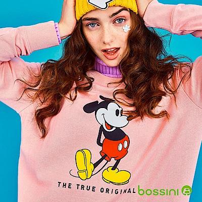 bossini女裝-米奇系列厚棉上衣01玫瑰色