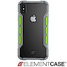 美國 ELEMENT CASE iPhone XS Max 專用拉力競賽防摔殼-淺灰/綠