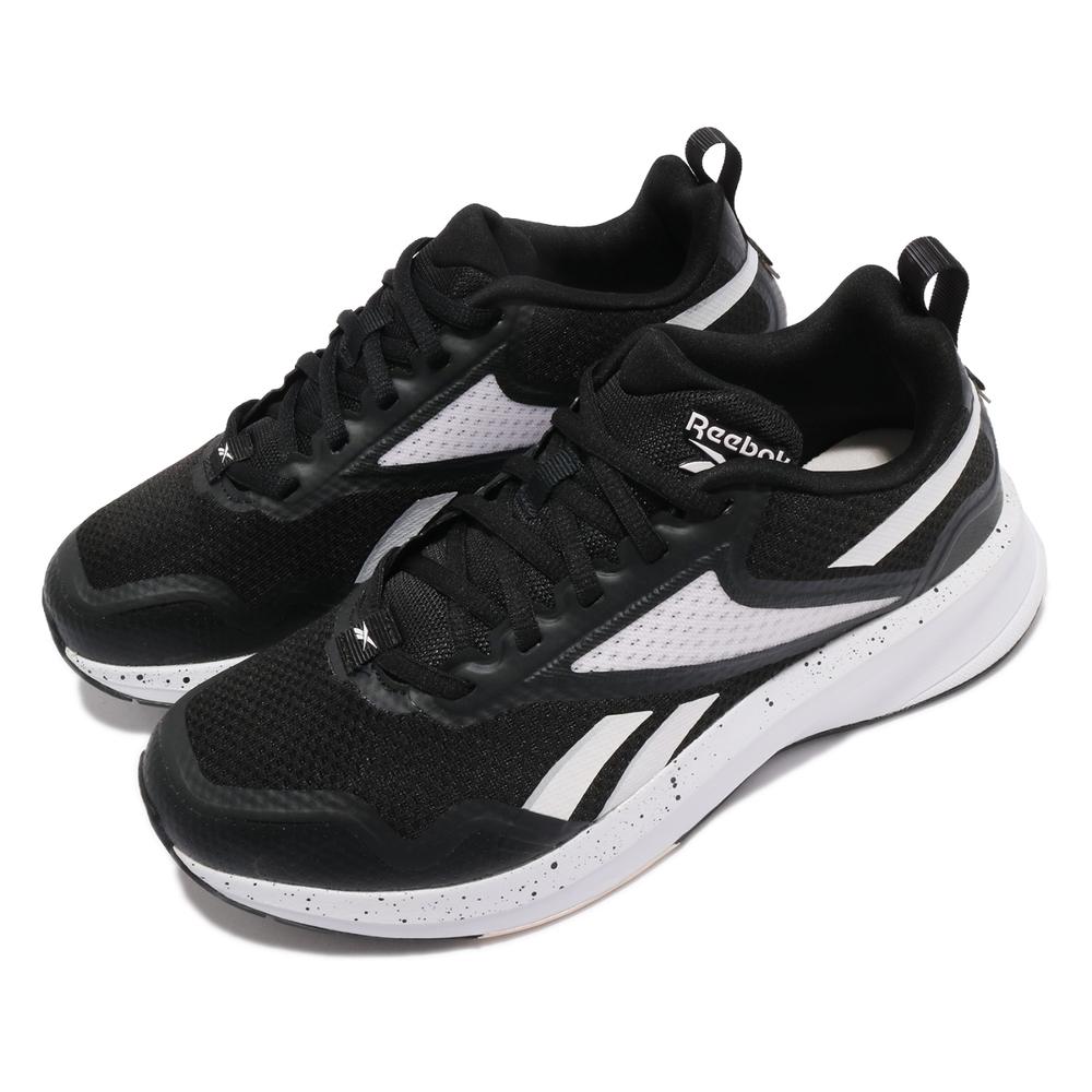 Reebok 慢跑鞋 Fusium Run Lite 運動 女鞋 輕量 透氣 舒適 避震 路跑 健身 球鞋 黑 白 FV6223