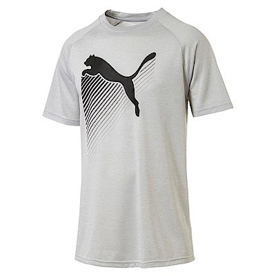 PUMA-男性訓練系列大跳豹短袖T恤-混紡灰(麻花)-歐規