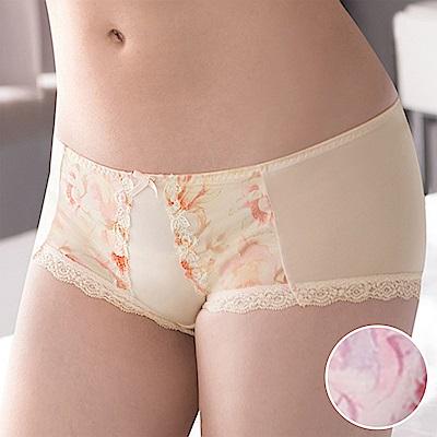 莎薇-花漾粉水M-LL 低腰平口內褲(蜜桃粉)冰涼透氣-包臀