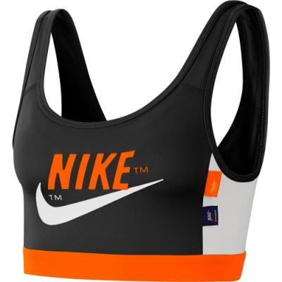 NIKE  運動內衣 中度支撐 瑜珈 跑步 訓練 背心 女款 黑橘 CJ0707010 AS NIKE SWOOSH ICNCLSH BRA