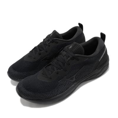 Mizuno 慢跑鞋 Wave Revolt 運動 男鞋 美津濃 路跑 避震 透氣 舒適 球鞋 黑 灰 J1GC201412