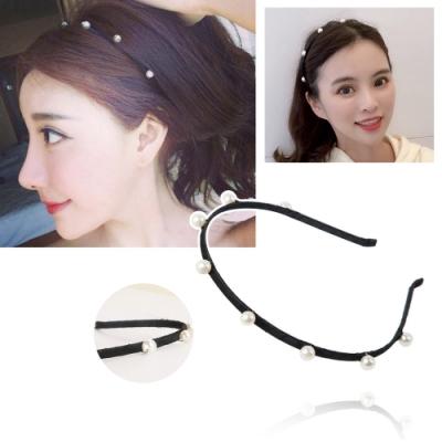 kiret韓國 氣質甜美簡約珍珠髮箍-贈珍珠鏤空BB夾
