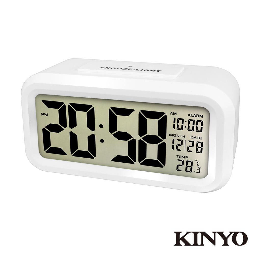 KINYO 簡約光控聰明鐘 (TD331)
