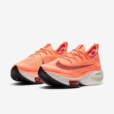 Nike 慢跑鞋 Zoom Alphafly Next% 女鞋 氣墊 舒適 避震 路跑 健身 襪套 橘 白 CZ1514800